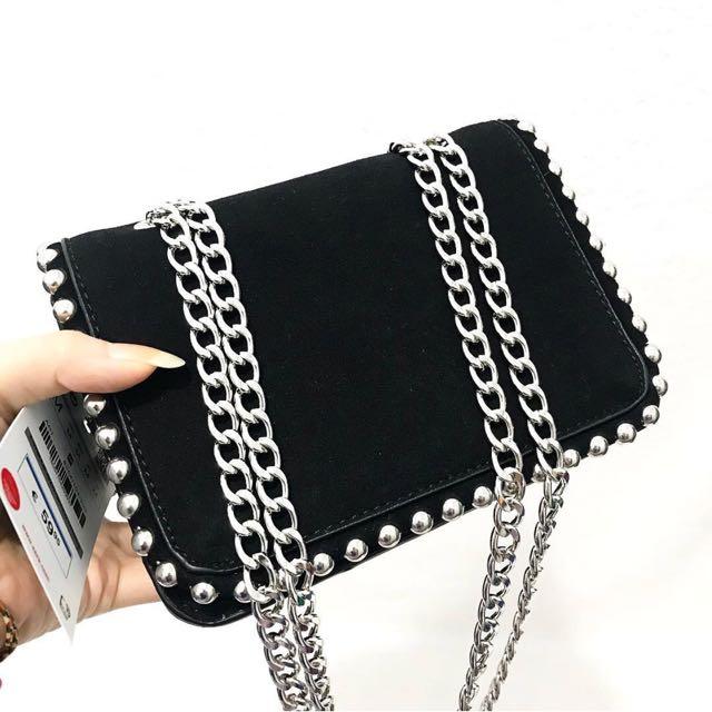 ZARA Velvet Bag