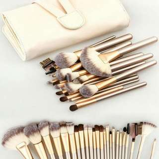 24-pc Make Up Brush Set With Pouch
