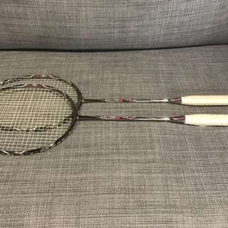 Fleet badminton racket . High modulus graphite 84-87g