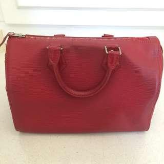 Louis Vuitton Speedy 25 Epi Leather Red