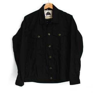Jaket Denim Full Black