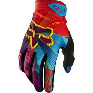 🆕! Fox Racing 🏁 Blue & Red Protective Gloves