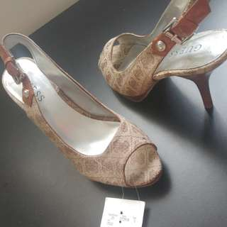 Guess Brown Open Toe & Strap Heels