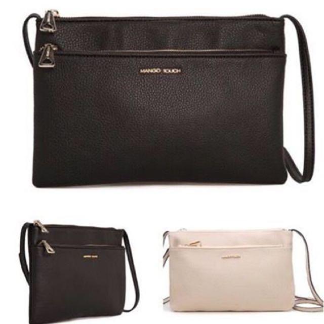 73bb938b38 028 💥💕 MNG Mango Women Double Zip Sling Bag