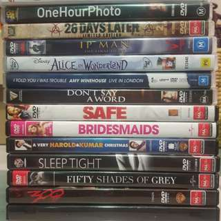 Abandoned Storage, Bulk Lot of 15 DVD's, Drama, Thriller, Comedy