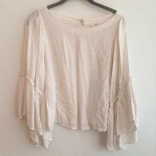 Anthropology scoop arms blouse