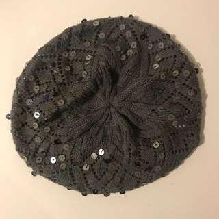 Dark Gray Sparkly Beanie/Hat
