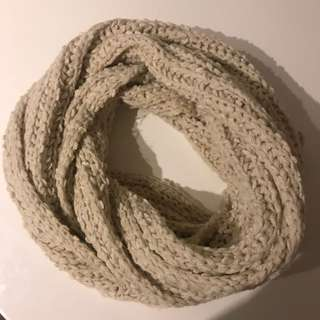 Off White Knitted Infiniti Scarf