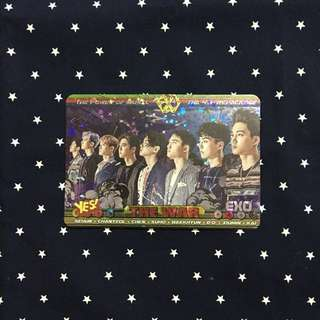 Yes card #25 EXO 閃卡 (1張)