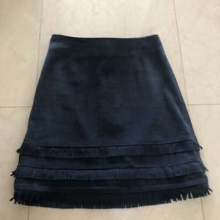 Kookai Leather Suede Skirt