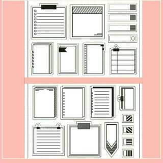 Buy 1 Free 1 Coming Soon Sale Sticky Memo 1 & 2 Clear Stamp Set