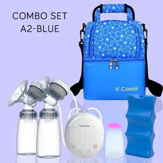 Combo Set A2 - V-cool + Double Breast Pump