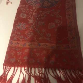 Red Pashmina (Bought in Turkey)