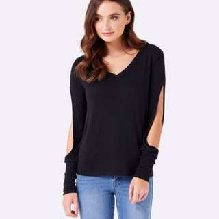 Forever New Cut Out Sleeve Top