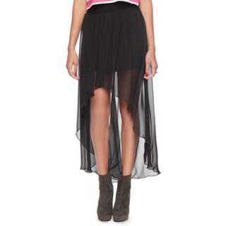 High Low Skirt in black