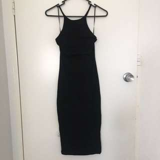 Luvalot black bodycon dress size 8