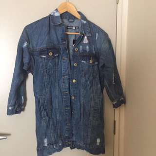A line denim jacket