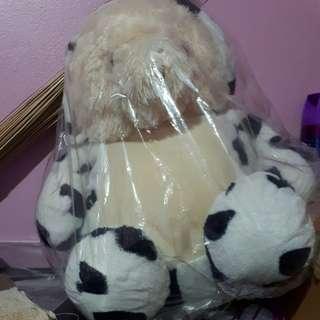 Teddy bear motif sapi dengan topi