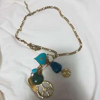 Hippie blue necklace