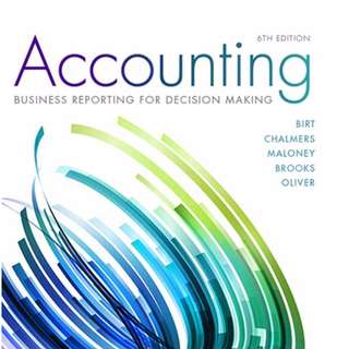 Accounting: Business Reporting for Decision Making (6th Edition) (E-textbook)