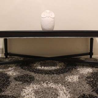 BLACK COFFEE TABLE WITH SILVER ACCENTS