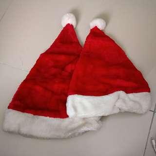 Santa Hat 2 sizes bahan bludru