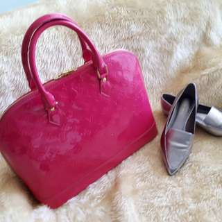 LV Hot Pink Alma