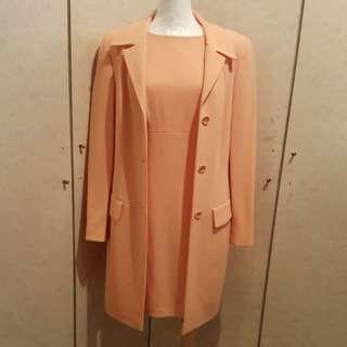 EPISODE 水蜜桃色2件式洋套裝