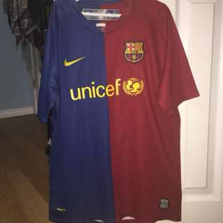 Barcelona youth size large jersey