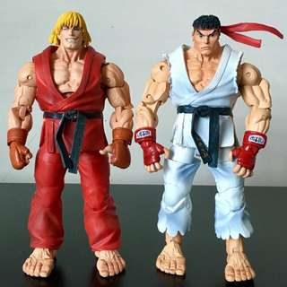 "NECA - STREET FIGHTER IV - 7"" KEN and RYU Action Figure Lot"