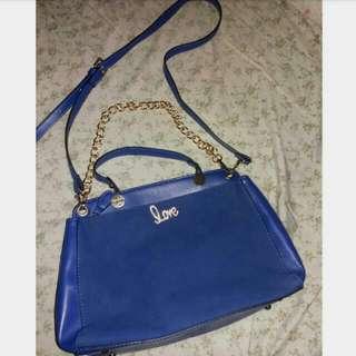 Blue Hand/sling Bag