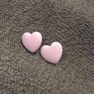 🔹復古粉膚色愛心