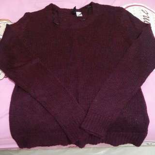 [H&M] Maroon Sweater