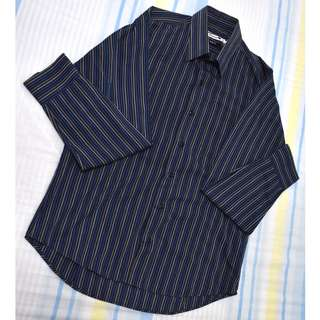 Blue Striped Polo (For Him)