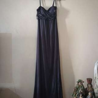 Metallic Purple Long Dress by Tango
