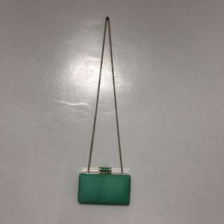 aldo turquoise clutch bag