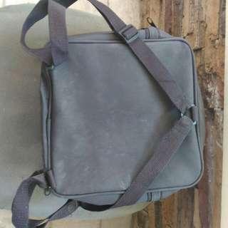 SALE! Gevalia Coffee Thermos Lunch Bag Picnic Set Brown Nylon Sack Backpack