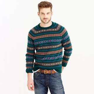 JCrew Fair Isle Sweater M
