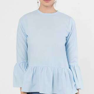 FashionValet - Orkid Top in Baby blue with tag