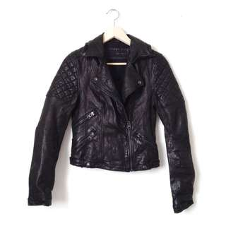 Zara Lambskin Leather Jacket S