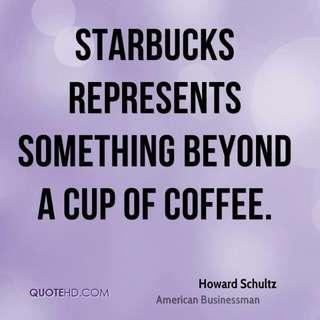 Starbucks represents MEMORABILIA