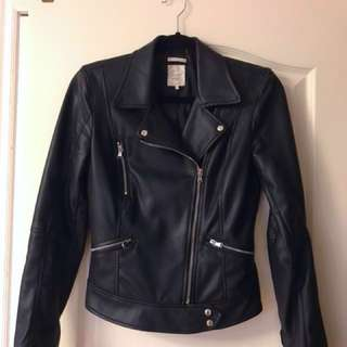 ZARA Faux-Leather Biker Jacket