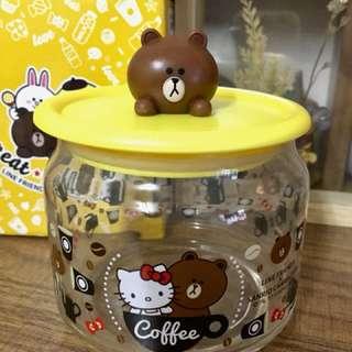 7-11 熊大 x Hello Kitty 收納玻璃甖