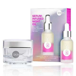 Skin Inc serum infused night oil and mask