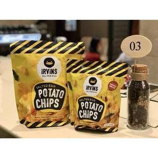 READY STOCK, TERMURAH - Irvins Salted Egg Potato Chips Murah
