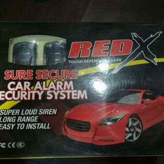 Red car alarm model w4 universal