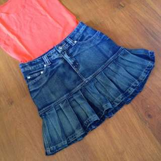 BNWT Denim Skirt