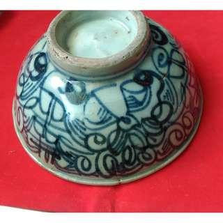 百年工藝清末 雙囍瓷碗 手繪 吉祥瓷碗