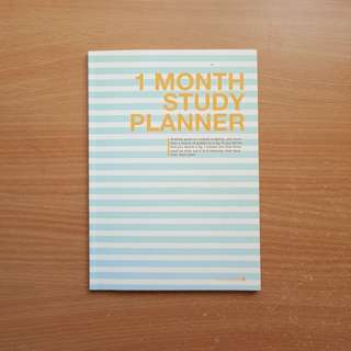 Morning Glory 1 Month Study Planner