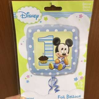 Disney 1st Birthday / 1st Month Baby Mickey Party Foil Balloon